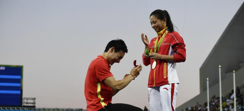 Trois demandes en mariage ont eu lieu pendant les épreuves des Jeux olympiques de Rio.
