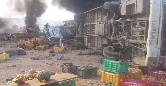 14 morts dans une collision entre un bus et un camion en Tunisie