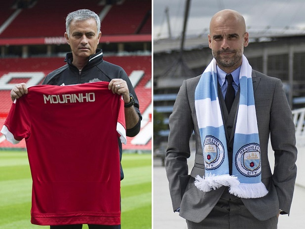 Premier League - Manchester United 1-2 Manchester City : Pep Guardiola bat Mourinho