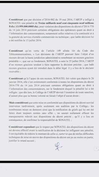 De 13, 9 à 1,5 milliard : le «ndéweneul* royal» du collège des administrateurs de l'ARTP à la SONATEL