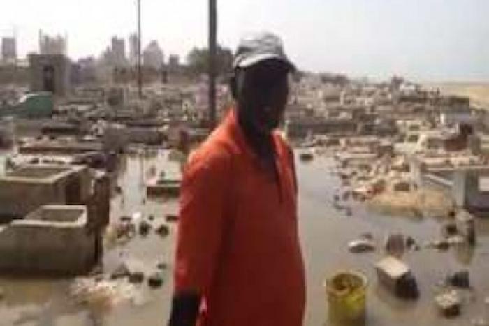 Thiaroye sur mer: après les fortes pluies, le cimetière envahi par les eaux