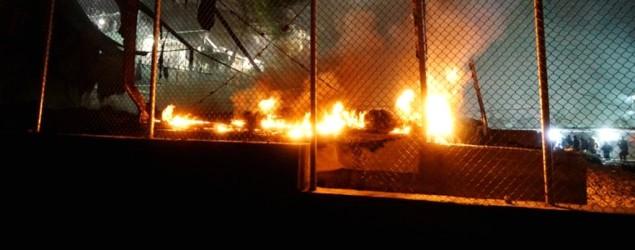 Grèce: les migrants rentrent au camp de Moria ravagé par un incendie