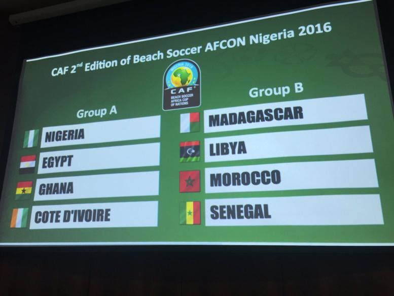 CAN 2016 Beach Soccer - Tirage au sort: le Sénégal dans le groupe B avec le Madagascar, la Libye et le Maroc