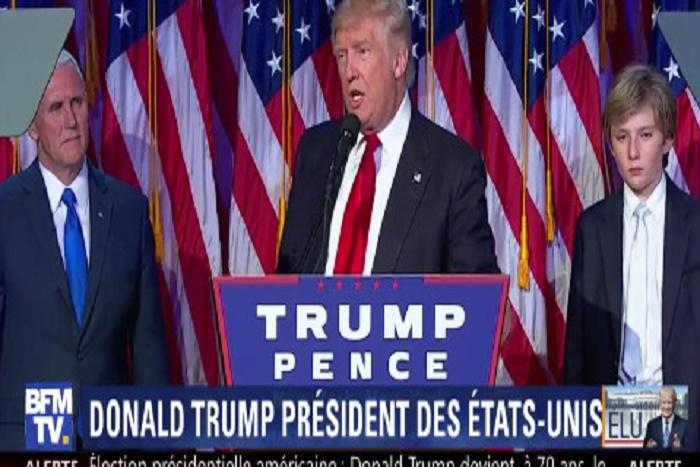 """Première déclaration de Donald Trump: """"Je serais le Président de tous les américains, (...)"""""""