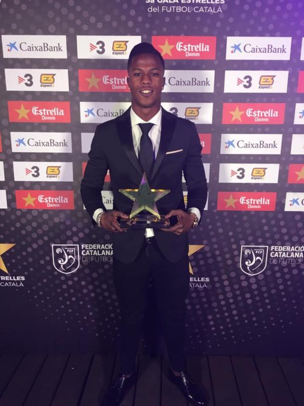 Joueur le plus prometteur: Diao Baldé Keïta primé au Gala des étoiles du football catalan