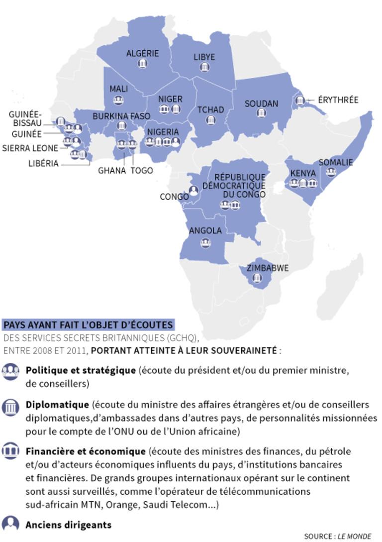 Chefs d'Etat, diplomates, hommes d'affaires, le Who's who des écoutes britanniques en Afrique