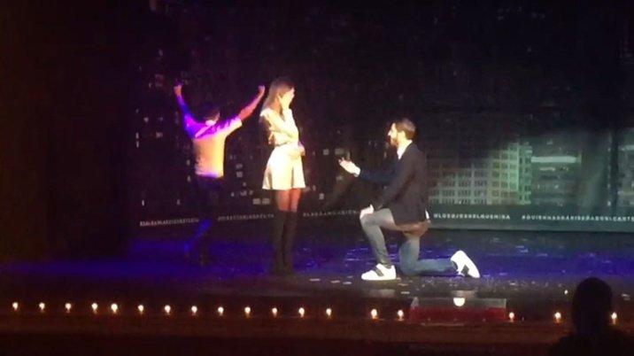 Quand Alvaro Morata demande sa fiancée en mariage ...