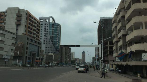 Rues désertes à Kinshasa
