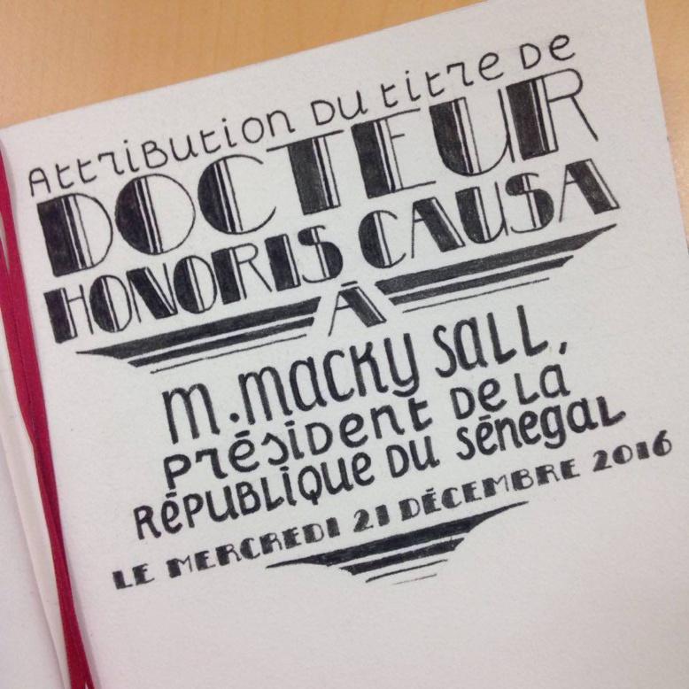 Visite en France: Macky Sall reçoit le titre Honoris Causa