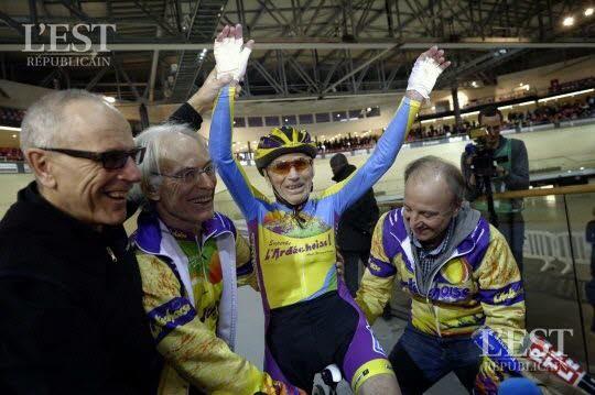Cyclisme: à 105 ANS, Robert Marchand tente un nouveau record de vitesse à vélo