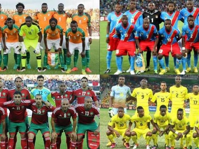 CAN Gabon 2017 - 2ème journée Poule C: la RDC, leader devant le Maroc, la Côte d'Ivoire en danger