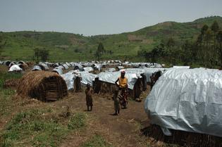 Nyanzale camp ( Goma , Congo )