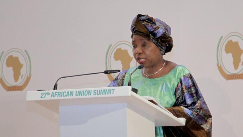 28e sommet de l'UA: à la tribune, les adieux de Nkosazana Dlamini Zuma