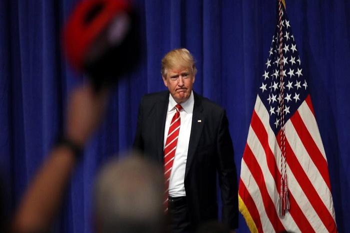 Etats-Unis: devant le Centcom, Donald Trump promet d'écraser l'EI