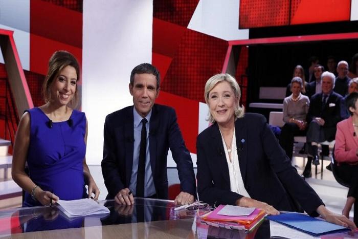 Présidentielle française: premier grand oral télévisé pour Marine Le Pen