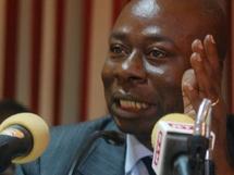 Baïdy Agne président du CNP parlant des difficultés de l'entreprise