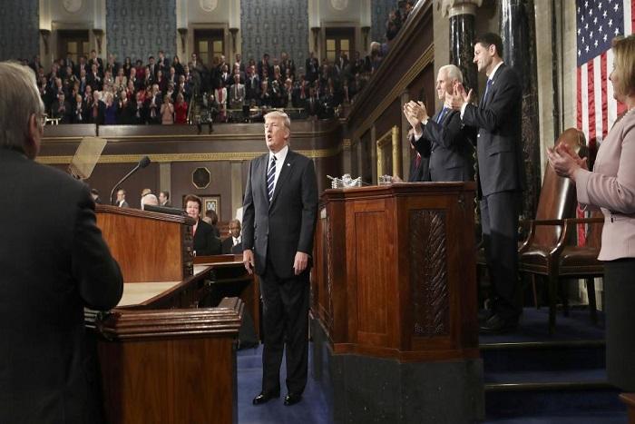 Donald Trump devant le Congrès fait l'éloge d'une «nouvelle fierté nationale»