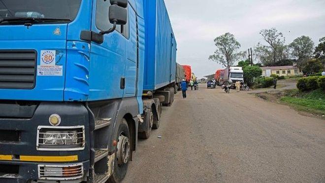 Grève des routiers à Pretoriag