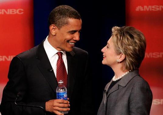 Barak obama et hillary clinton