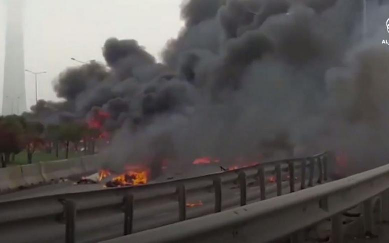 Turquie : un hélicoptère s'écrase à Istanbul, 5 morts dont des Russes