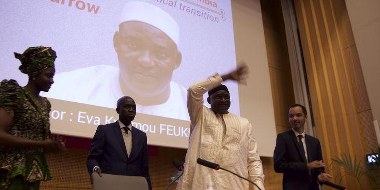 Adama Barrow à Sciences-Po : le discours d'un débutant