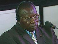 Théoneste Bagosora, ancien chef de la milice hutu Interahamwe arrêté au Cameroun en mars 1996, au TPIR, à Arusha, jeudi 18 décembre 2008.