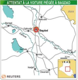 Irak : L'explosion d'une voiture piégée fait huit morts à Bagdad