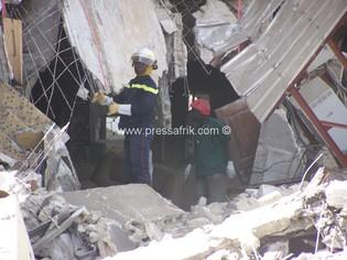 Sénégl-incendie-effondrement d'un immeuble: deux morts et sept personnes sous les décombres