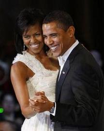 Barack Obama et sa femme en soirée (Copyright © 2009 Reuters)