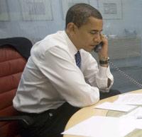Après les festivités, Barack Obama s'est remis au travail.(Photo : Reuters)