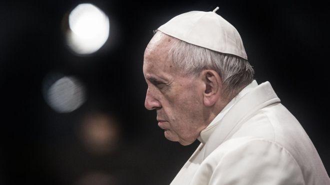 Le pape François en colère