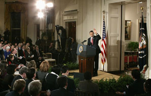 Barack Obama a exposé avec détermination sa méthode à la presse. (Reuters)