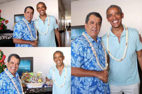 Michelle et Barack Obama, dernière photo avant la fin des vacances