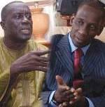 Les deux ennemis au sommet de AJ/PADS, Landing Savané et Mamadou Diop Decroix (Ph. sunugalsene.com)