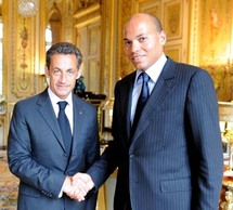 Le président français, Nicolas Sarkozy recevant Karim Wade