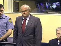 L'ancien président serbe Milan Multinovic, lors de son procès au TPIY, à la Haye, le 26 février 2009.(Photo : Reuters)