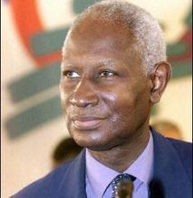 Le Secrétaire général de l'Organisation Internationale de la Francophonie (OIF), Abdou Diouf