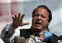 Nawaz Sharif, le chef le plus populaire de l'opposition, a appelé les Pakistanais à « changer la destinée » de leur pays en participant à « la longue marche ».(Photo : Reuters)