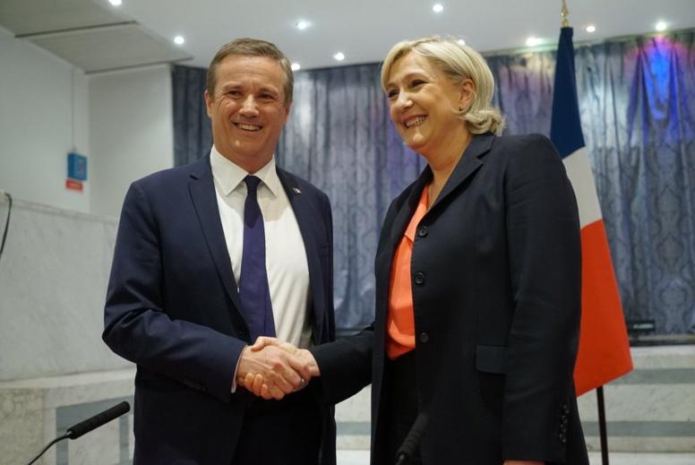 Nicolas Dupont-Aignan sera nommé Premier ministre si elle est élue, annonce Marine Le Pen