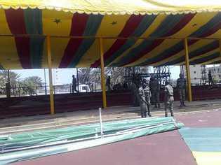 Sénégal - Fête du 4 avril: le boulevard De Gaulle déjà dans ses habits d'apparat