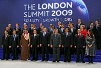Les chefs d'Etat participant au sommet de G20 à Londres, le 2 avril 2009. (Ph: Reuters)