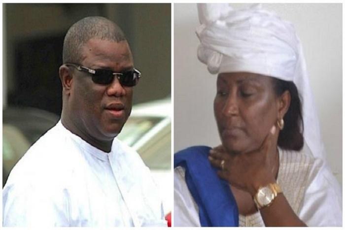 Abdoulaye Baldé et sa femme, Aminata Gassama devant la Crei, ce lundi