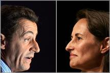 Les deux adversaires de la scène politique française, Sarkozy et Ségolène (Photo: desirsdavenir.unblog.fr)