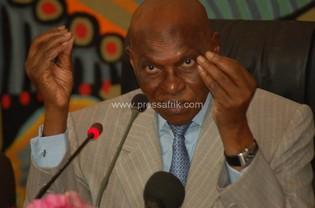 Le président de la République du Sénégal, Abdoulaye Wade