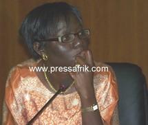La secrétaire générale du SYNPICS, Diatou Cissé initiatrice de l'atelier