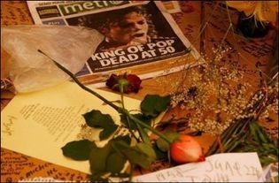 Hommage à Michael Jackson le 26 juin 2009 à l'Apollo Theater à New York (Photo: AFP)