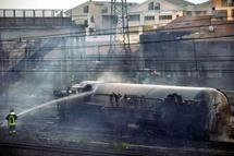 L'accident s'est produit juste avant minuit près de la gare de la ville côtière de Viareggio, à la suite du déraillement d'un wagon-citerne d'un convoi de 14 wagons transportant du GPL (gaz de pétrole liquéfié). -Photo: AP