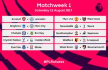Le calendrier de la Premier League dévoilé