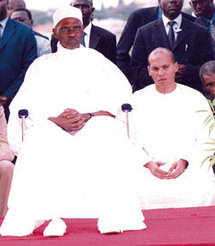 Le président de la République, Abdoulaye Wade et son fils Karim