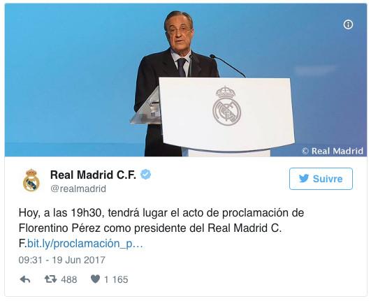 Real Madrid: Seul en course, Florentino Pérez est réélu à la présidence du club